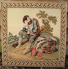 Berlin Woolwork Tapestry Antique Needlepoint Wool Victorian Embroidery Scottish
