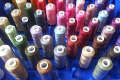 Coloured cotton reels, Craft with Ruth Cartwright