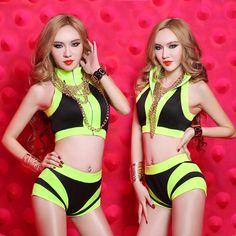 US  19.99   piece Free Shipping to Sweden 2015 women sexy female jazz dance  nightclub bar DJ clothing ds sequins rhinestone bodyduit costume women s  prom ... 1e0f34642293