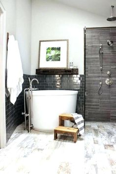 freestanding tub and shower combo small bathtub shower combinations corner bath shower combo bathroom freestanding tub and shower combo small bathtub shower combo freestanding tub and clawfoot bathtub Corner Bath Shower, Bathtub Shower Combo, Bathroom Tub Shower, Tiny House Bathroom, Bath Tubs, Bathroom Small, Bathroom Ideas, Bathtub Ideas, Shower Ideas