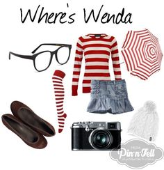 Raid your closet and make your own Halloween Costume: DIY Where's Wenda
