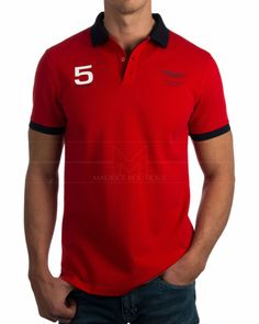 Polos Hackett - Amr Hkt Collr - Rojo Camisa Polo, T Shirt Time, Men's Wardrobe, Mens Fashion, Fashion Outfits, Men Looks, Aston Martin, Tommy Hilfiger, Polo Ralph Lauren