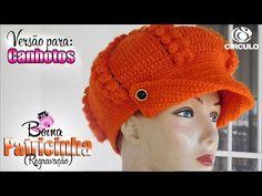 Crochet Newsboy Hat, Crochet Cap, Booties Crochet, Crochet Baby Hats, Crochet Granny, News Boy Hat, Slouchy Hat, Crochet Videos, Baby Patterns