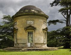 larger view at Croome The Rotunda. ©NTPL/Andrew Butler A garden pavilion at Croome Court, Worcestershire, designed by Capability BrownThe Rotunda. ©NTPL/Andrew Butler A garden pavilion at Croome Court, Worcestershire, designed by Capability Brown Garden Architecture, Classical Architecture, Beautiful Buildings, Beautiful Places, Cb 300, Fachada Colonial, Parks, Garden Pavilion, Gate House