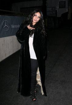 Vanessa Hudgens in fur coat