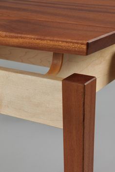 Caught in the Cypher Medium Side Table Maple and Sapele image 2 Fine Furniture, Custom Furniture, Table Furniture, Furniture Design, Table Bar, Table Legs, Wood Table, Woodworking Furniture, Fine Woodworking