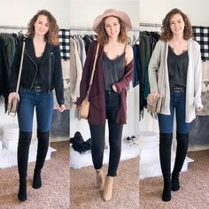 Fall/Winter Date Night Outfits - Capsule Wardrobe Style - Dani Thompson Business Casual Womens Fashion, Business Casual Outfits, Cute Sweater Outfits, Sweater Fashion, Capsule Outfits, Capsule Wardrobe, Classic Outfits, Classic Style, Simple Style