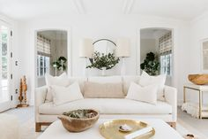 White, beige and accents of gold.
