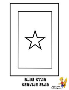 usa blue star service flag coloring page you have all the usa armed