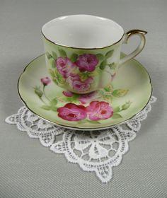Vintage Demitasse Pink Tea Cup & Saucer