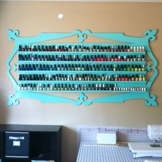 Nail polish rack. Please gift this to me. Or send materials and I will make it myself. Or just show me how. I need this! I have this many, maybe more nail polishes than this! I love this!!!