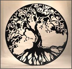 Tree of life - metal.  I like the contrast in this one, but might be to much for the family room.