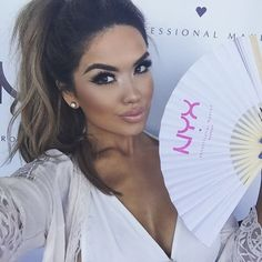 Summer time fun with @nyxcosmetics and @lulus earrings from @queenpee  #iluvsarahii #lovelulus #poolsidewithlulus #queenpee by iluvsarahii