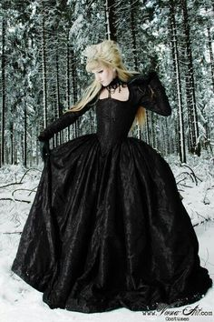 """This was formerly titled """"steampunk tudor style"""", and as much as I Love steampunk, let's stop labeling anything and everything gothic 'steampunk'. This is elegant Victorian Goth, and is very reminiscent to Stevie Nicks attire. Gothic Outfits, Gothic Dress, Gothic Lolita, Dark Beauty, Gothic Beauty, Dress Up, Goth Women, Black Wedding Dresses, Wedding Black"""