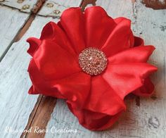Red Hair Flower, Baby's Headband, Girls Headband, Vintage Red, Hair Clip, Women's Hairband, Hair Accessory, Hair Comb, Newborn Headband, Red by RhysandRaesCreations on Etsy https://www.etsy.com/listing/262310953/red-hair-flower-babys-headband-girls