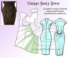 Feminine Tailoring - pattern making instructions. #PatternPuzzle
