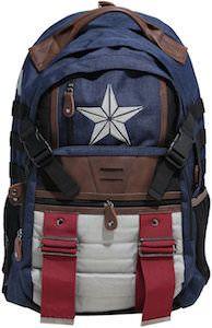 Canvas Captain America Backpack - http://www.thlog.com/canvas-captain-america-backpack/