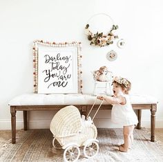 Darling Today You are One Birthday Decor Party Decorations
