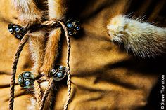 Denver, Colorado, USA - Detail shot of an Alan Michael leather garment. This guy, based in Los Angeles, California, USA, makes some of the best garments out of leather. To me they are more art that apparel.