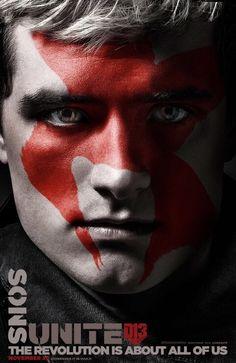 "New ""Faces of The Revolution"" Character Posters for Mockingjay Part 2: Sons Unite, No stranger to sacrifice, the baker's son; Peeta Mellark"