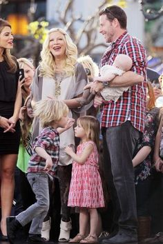 Tori Spelling and Family. Love her!