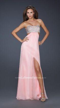 2014 Chic Pink La Femme Prom Dress 16291