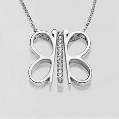Trinity Butterfly Necklace