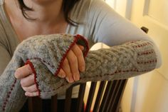 Armwarmers++Upcycled+cabled+lambswool+with+by+treelinestudio,+$45.00