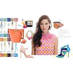 Christine Manthey Spring/Summer 2015 by stylemyride on Polyvore featuring polyvore fashion style Guerlain Essie Elie Saab tarte