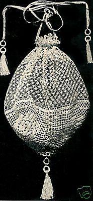 Antique Evening Filet Crochet Opera Bag. I'm going to make this.