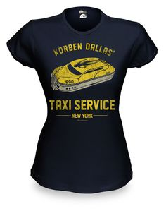 ThinkGeek :: Korben Dallas' Taxi Service Babydoll  love it!!  I want this shirt!  Where can I get one?  Loved the 5th element!  watch it to this day!  yay!