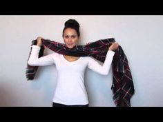 15 Ways to Wear a Blanket Scarf - YouTube