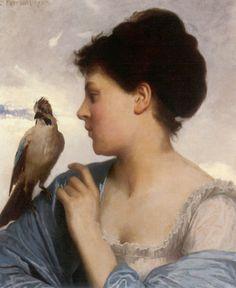 Perrault Paintings-The Bird Charmer, 1873