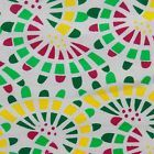 "40"" Wide White Cotton Fabric Geometric Print Designer Sewing Fabric Dress By 1 Y"