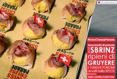 Spadellatissima!: Bocconcini di polenta allo Sbrinz ripieni di Gruyére e funghi porcini, avvolti nello speck (senza glutine) http://www.spadellatissima.com/2013/11/bocconcini-di-polenta-allo-sbrinz.html