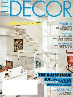 Elle Decor Magazine, Oh Beautiful, Our World, Architecture, Decoration, The Hamptons, Facade, Magazines, Lights