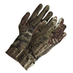 RedHead® Spandex Hunting Gloves for Youth   Bass Pro Shops // These lightweight gloves are perfect for warmer weather #turkeyhunting. The Grip Tech dotted palms ensure a good grip on your gun or calls, and they are thin enough to leave on while shooting. #kidshuntinggear #camogloves