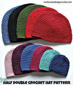 Half Double Crochet Hat Pattern - Free Crochet Pattern Oombawka Design Crochet: