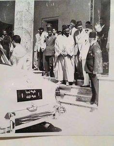 العهد الملكي: حكومة #ليبيا ولاية فزان #سبها هذه الصورة 1958-59 اثناء تنفيد طريق بفزان من خلال شركة ساسكو