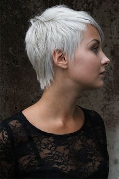 Phenomenal My Hair Platinum Pixie Cut And Blonde Pixie On Pinterest Short Hairstyles Gunalazisus