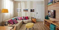 combinação de cores para sala bege