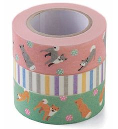 I NEED THIS!!! Shiba inu washi tape set. felissimo