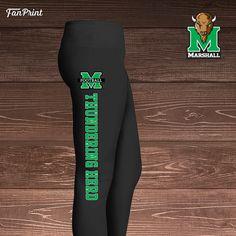 $ Marshall University Thundering Herd Football Leggings - Officially licensed NCAA apparel