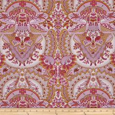 Amy Butler Alchemy Flora Rose from @fabricdotcom  Designed by Amy Butler for Westminster/Rowan Fabrics, this cotton print fabric is perfect for quilting, apparel and home décor accents. Colors include shades of pink and honey brown.