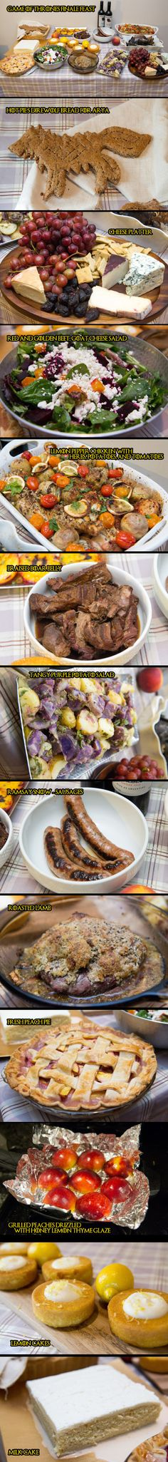 Game of Thrones Feast: food from Dorne. This region has food with a very Mediterranean feel to it. Every menu item here -- and MANY more -- is available from this amazing GoT fan website. Rachel is a GoT chef par excellence! Medieval Game of Thrones Gathering Party Theme & Decorating Ideas