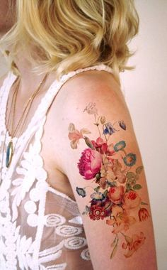 Pretty Tattoos For Women Cool Colorful Arm Tattoo Tattoo Femeninos, Form Tattoo, Shape Tattoo, Get A Tattoo, Color Tattoo, Body Art Tattoos, New Tattoos, Small Tattoos, Sleeve Tattoos