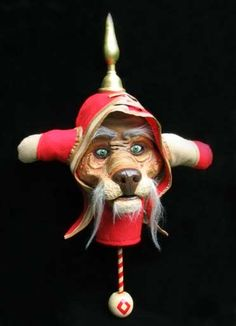 Red Guard Dog Mask ~ Bronwyn Frazier Jim Henson Labyrinth, Terry Jones, Labrynth, Puffy Dresses, The Neverending Story, Dog Mask, The Last Unicorn, Roger Rabbit, Guard Dog