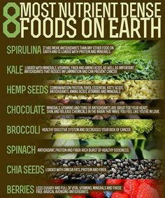 8 most nutrient dense foods