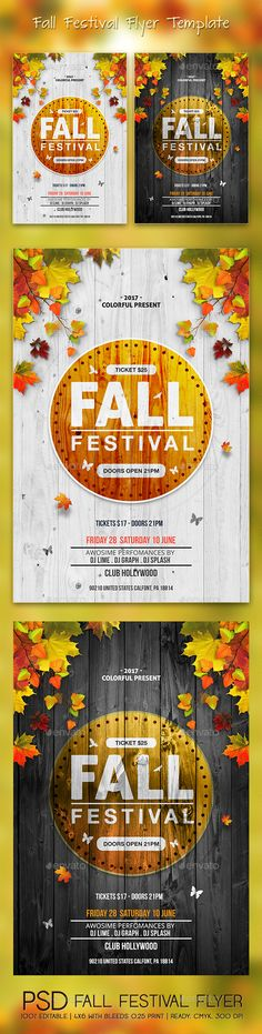 Fall Festival Flyer Template PSD. Download here: https://graphicriver.net/item/fall-festival-flyer/17623416?ref=ksioks