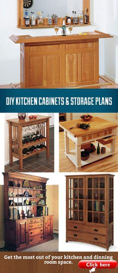 Save Money And Build Your Own Kitchen Cabinet Hutch Bar Or Island With These P